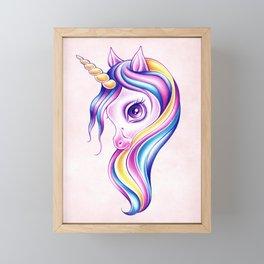 Candy Pop Unicorn Framed Mini Art Print