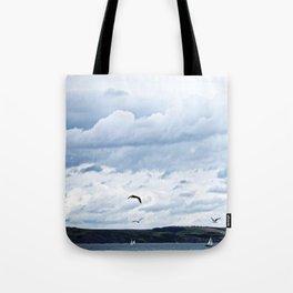 Sailboats & Skies Tote Bag