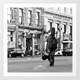 Crossing Broadway Art Print
