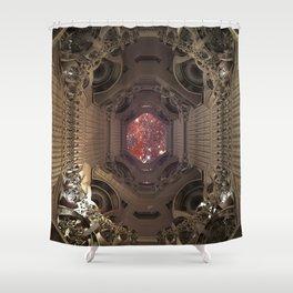 Space Checkpoints TA KentPress Shower Curtain
