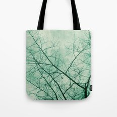 Tree In Green Tote Bag