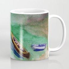 boats at beach Mug