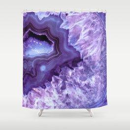 Purple Lavender Quartz Crystal Shower Curtain