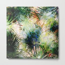 Modern palm leaves tropical abstract design Metal Print