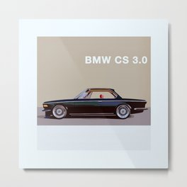 Classic German Car Illustration. Metal Print