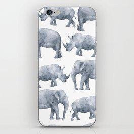 Rhino and elephant iPhone Skin