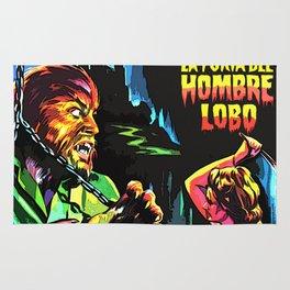 The fury of wolfman * La furia del Hombre Lobo * Vintage Movies Inspiration Rug
