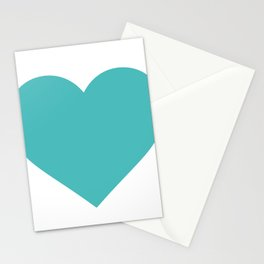 Heart (Teal & White) Stationery Cards