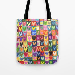 Many hearts and colours Tote Bag