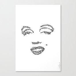 Marilyn Monroe WordsPortrait Canvas Print