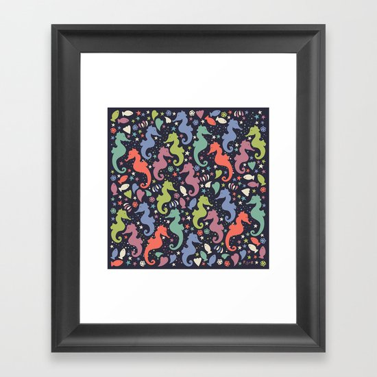 Dancing Seahorses Framed Art Print