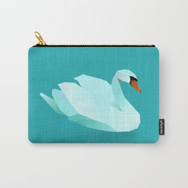 Geometric Swan - Modern Animal Art Carry-All Pouch