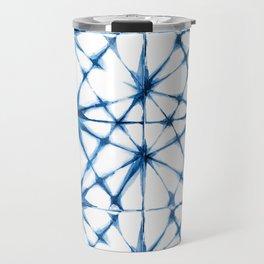 Shibori Tie Dye Pattern Travel Mug