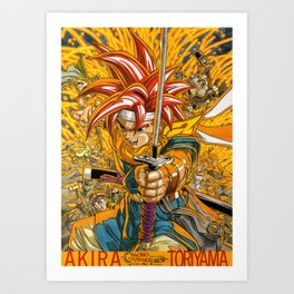 Chrono Trigger Magazine Illustration Art Print