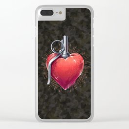 Love Grenade Clear iPhone Case
