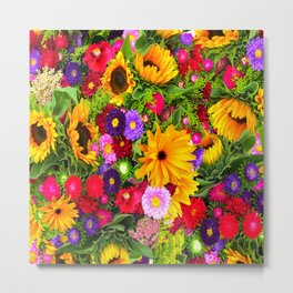 Flower mix Metal Print