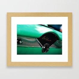 Classic Chevy Belair Dash Framed Art Print