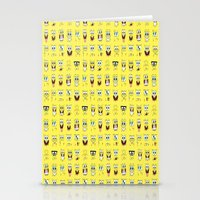 spongebob Stationery Cards featuring spongebob  , spongebob  games, spongebob  blanket, spongebob  duvet cover by ira gora