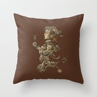 cycle Throw Pillows featuring CYCLE by AMULET
