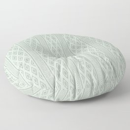 Old pattern with diamonds and lines - blue Floor Pillow