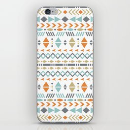 Southwestern Tribal Modern Geometric Stripes of Arrows Chevrons Diamonds Leaves Triangles Circles iPhone Skin
