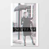 jessica lange Canvas Prints featuring Jessica Lange Fiona Goode Supreme by NameGame