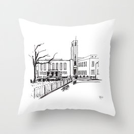 hornsey town hall, crouch end Throw Pillow