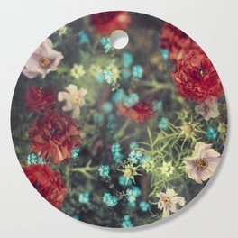 Spring Message - Colourful Flowers Cutting Board