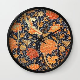 William Morris Cray Floral Art Nouveau Pattern Wall Clock