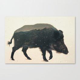 Veluwe: Wild Boar Canvas Print
