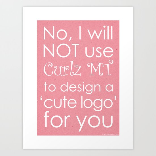 Curlz Hate Art Print