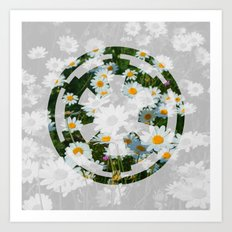 Imperial Cog and Daisies Art Print