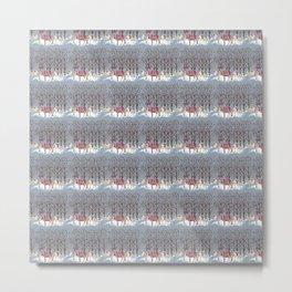 The Reindeer Gathering Metal Print