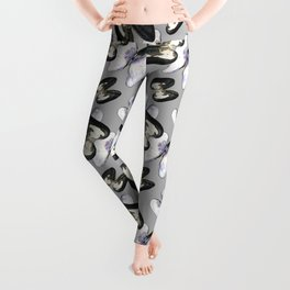 Unio Crassus Pattern in Gray Leggings