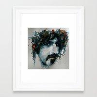 zappa Framed Art Prints featuring Frank Zappa by Paul Lovering Watercolors