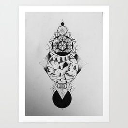 The Soul of The Mountain Art Print