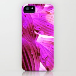 Purple waves to Pink iPhone Case