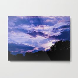 Candy Clouds - Purple and Pink Clouds in England Metal Print