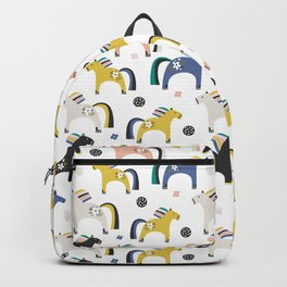 Hourses Animals Prints patterns Backpack