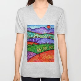 Landscape - Boone, North Carolina Unisex V-Neck