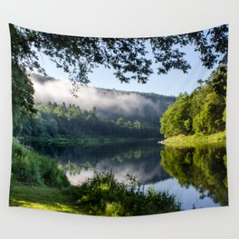 The River's Reflection Wall Tapestry