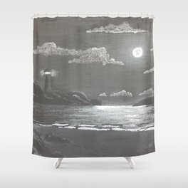 Quiet Night Shower Curtain