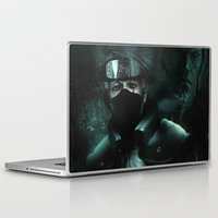kakashi Laptop & iPad Skins featuring Kakashi of the sharingan  by Shibuz4