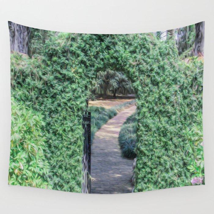 A Secret Doorway Wall Tapestry