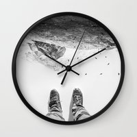 solid Wall Clocks featuring Solid ground by Stoian Hitrov - Sto