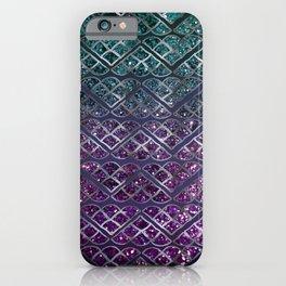 Purple Aqua MERMAID Glitter Scales Dream #1 #shiny #decor #art #society6 iPhone Case