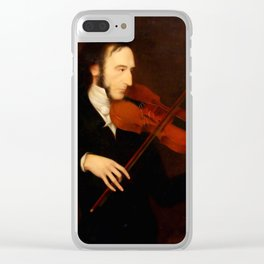 Niccolò Paganini by Daniel Maclise (1831) Clear iPhone Case