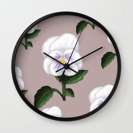 Pansies Wall Clock