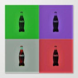 Vintage Soda Bottle Pop Art by Jéanpaul Ferro Canvas Print