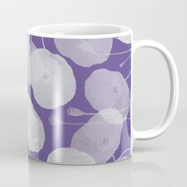 Ultra Violet Floral Abstract. Pantone Color of the Year 2018 Coffee Mug